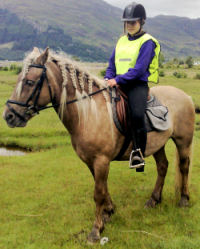Pony trekking can be enjoyed by people of any age and without prior experience of riding