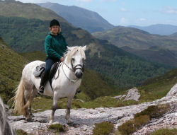 Pony trekking through Glenshiel offers a unique experience to view the spectacular Highlands scenery